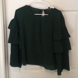 Madewell brand new tags still on green blouse